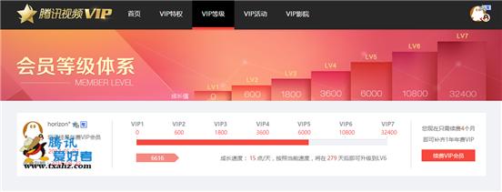 腾讯视频VIP7正式上线 需要32400点成长值